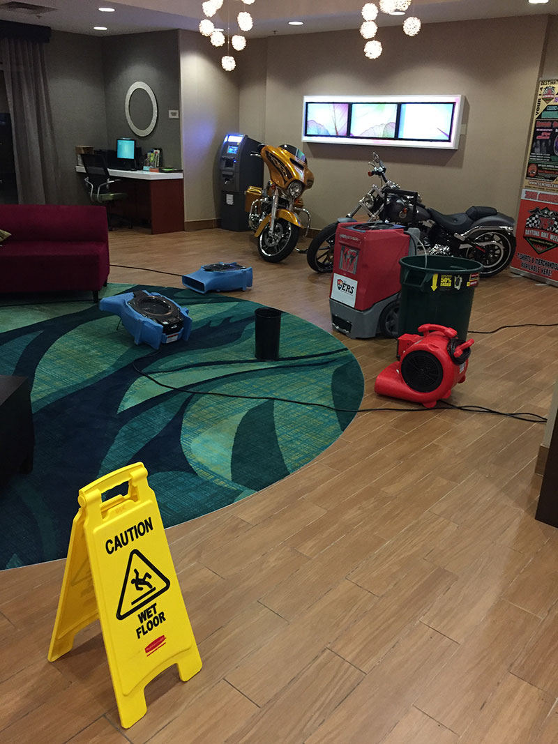 water damage dehumidification, water damage cleanup